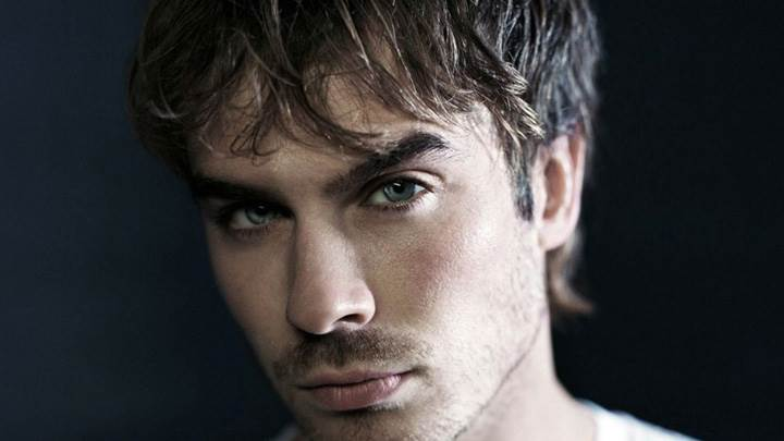 Ian Somerhalder Smart Face Closeup And Black Background
